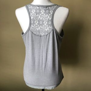 Lace Tank with Button Detail